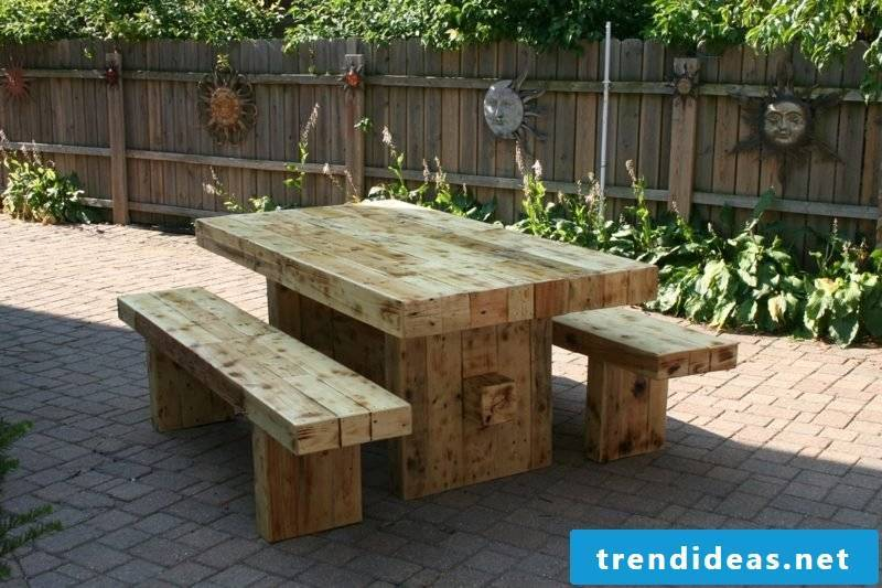 garden table build yourself rustic