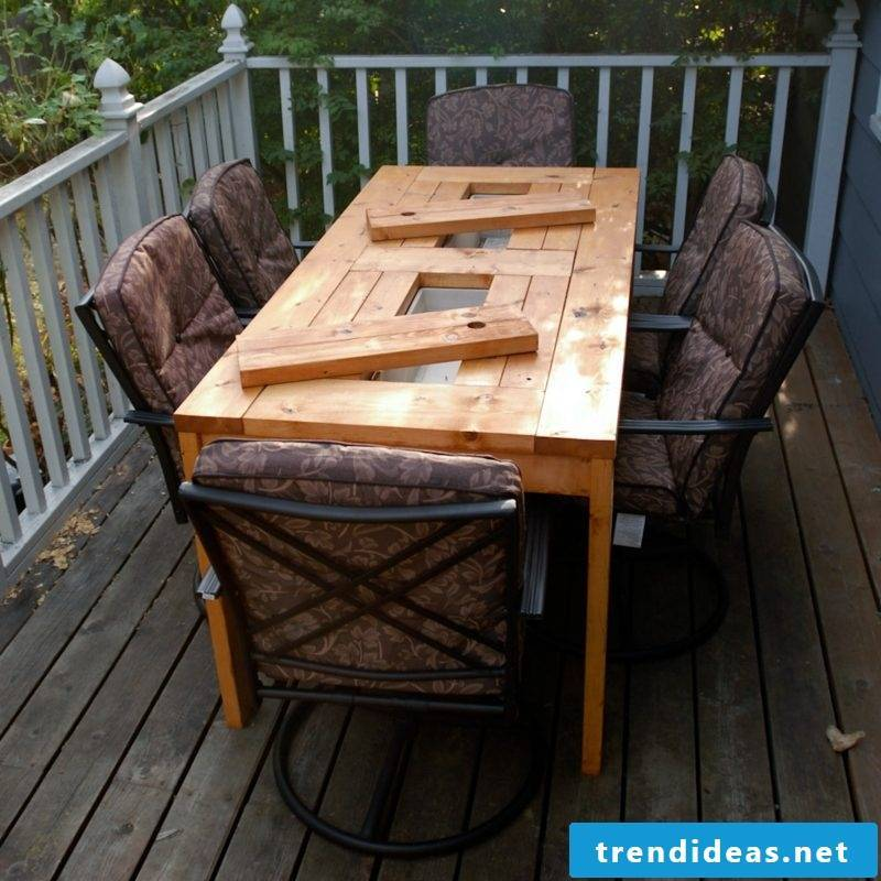 garden table build patio table with built in beer