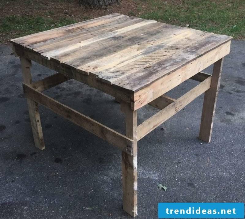 Garden table build your own pallet patio