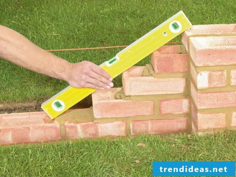 garden wall build yourself instructions garden walls types garden wall made of bricks brick wall