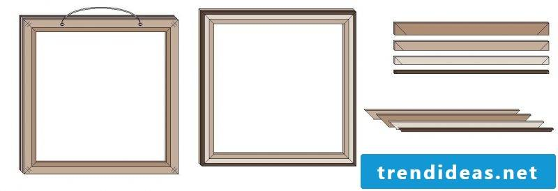 picture frames build creatively themselves