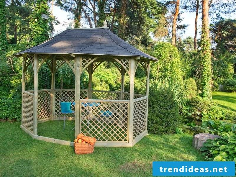 Pavilion itself build easy