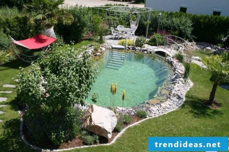 Swimming pond itself build pleasant