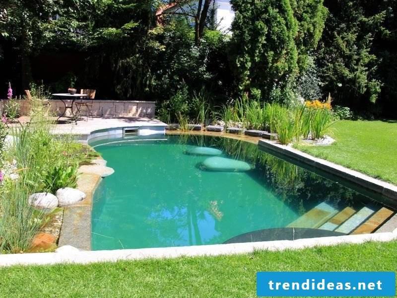Swimming pond itself build attractive