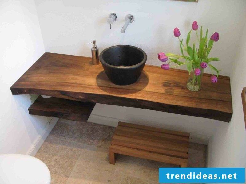 Solid wood washbasin ideas and inspirations