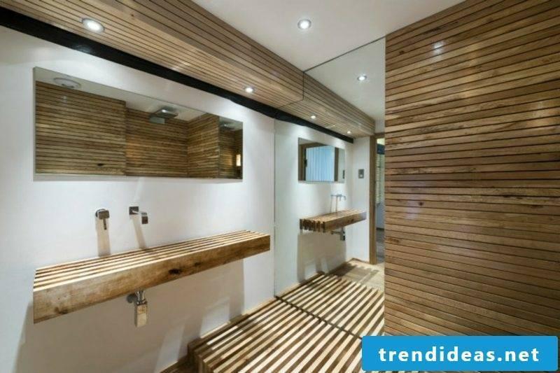 Washbasin made of wood