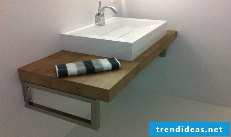 Washbasin Wooden washbasin made of porcelain