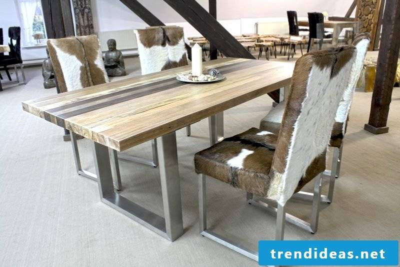 Solid wood dining table modern design
