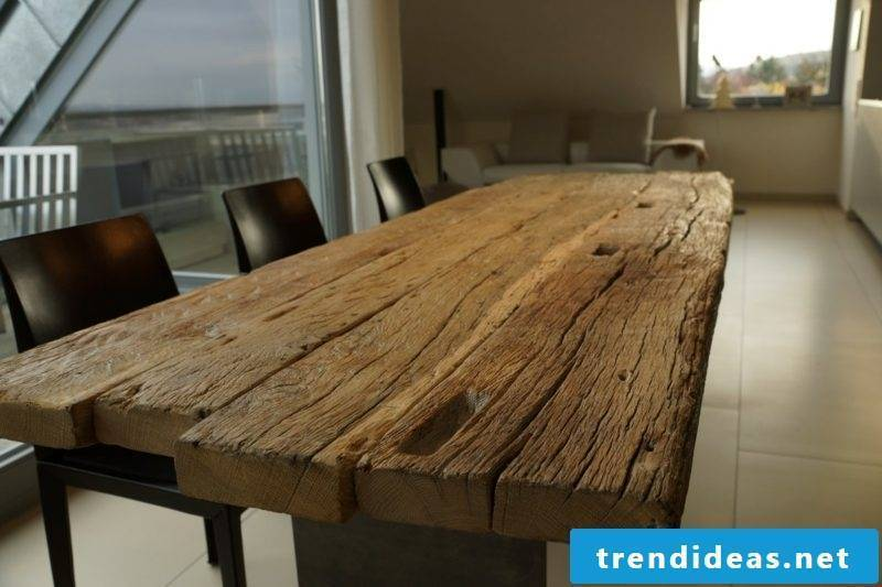 Dining table solid oak wood
