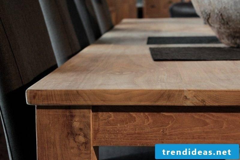 classic wooden table rectangular