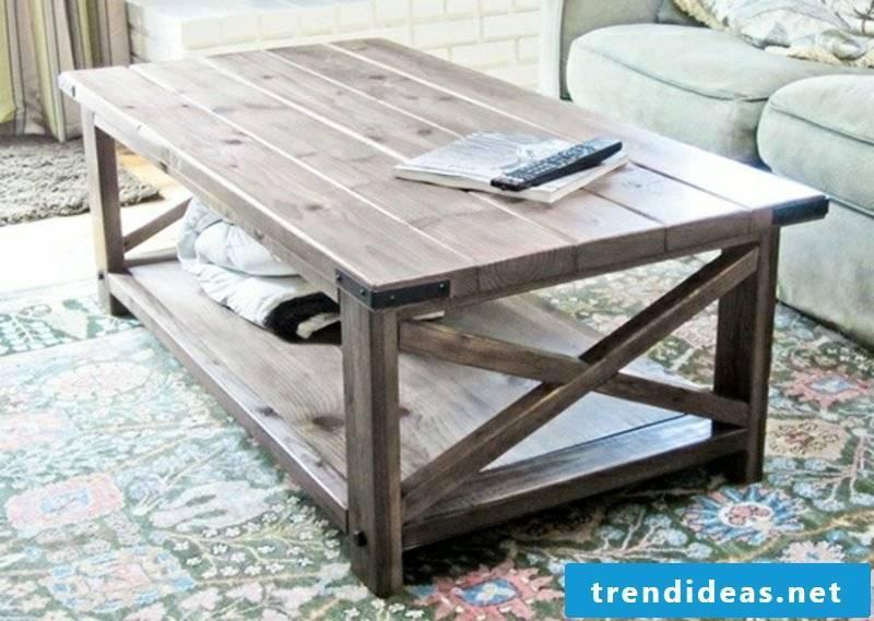 original wooden table living room