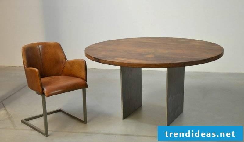 Coffee table wood round shape