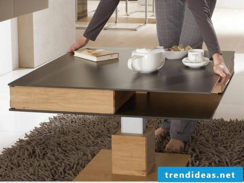Coffee table wood modern design