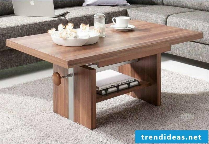 Living room table wood modern look