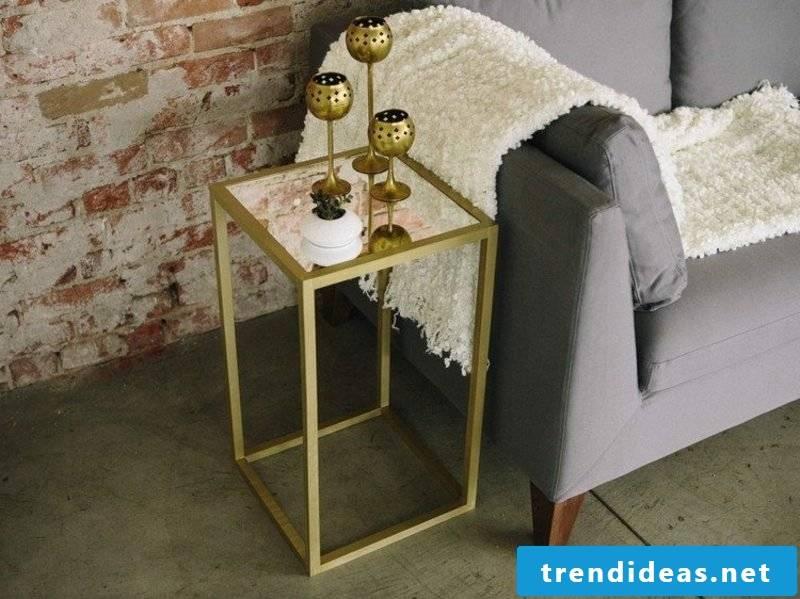 Coffee table industrial look