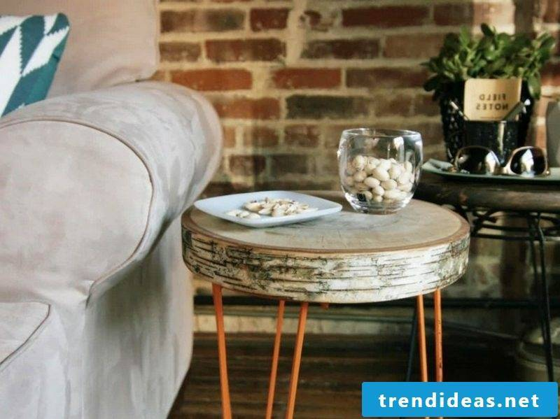 Build your own tree-trunk table
