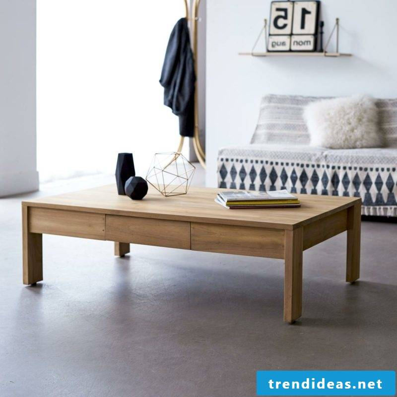 decorative living room table wood