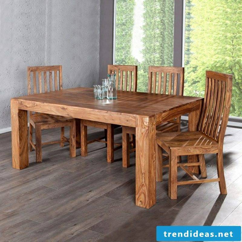 classic wooden dining table