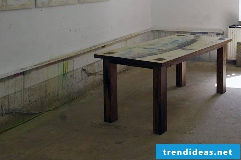 Wooden table classic look rectangular