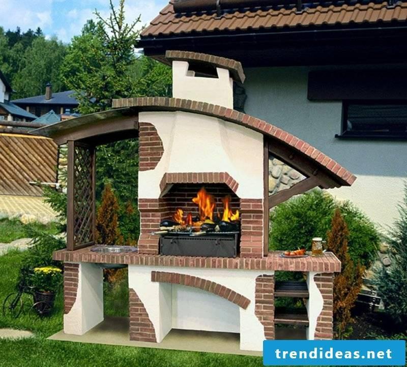 large garden grill unusual design
