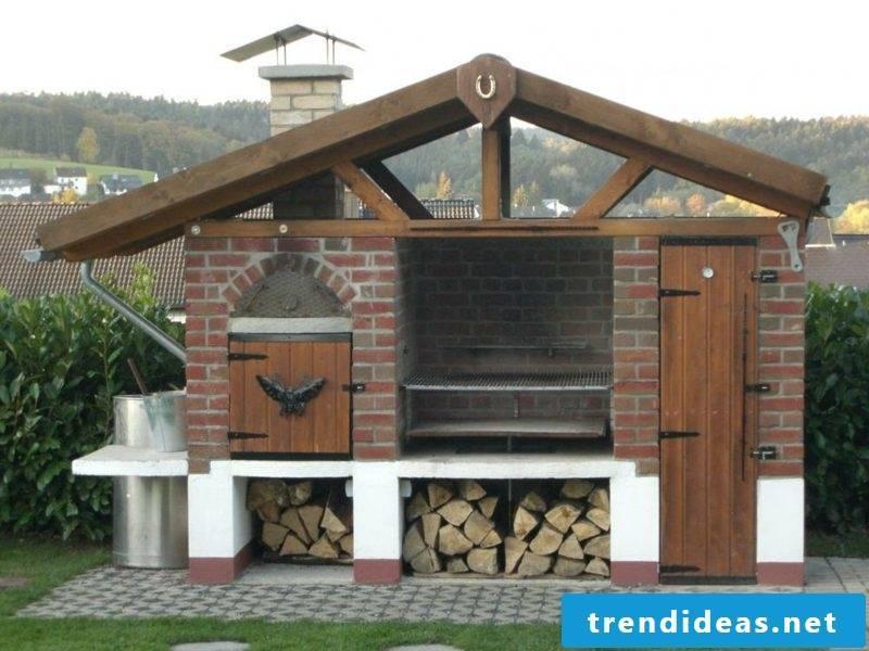 Barbecue brick walled modern design
