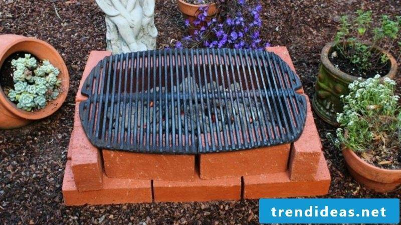 small barbecue made of brick