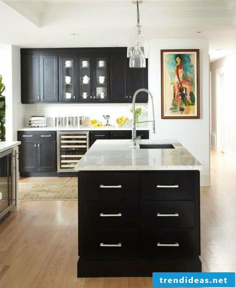 Kitchen island in country style