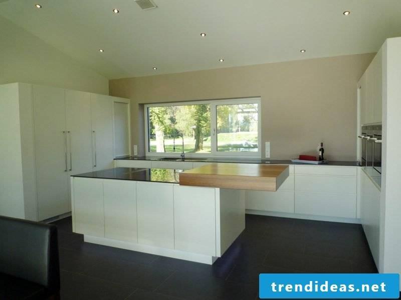 modern minimalist kitchen with kitchen island