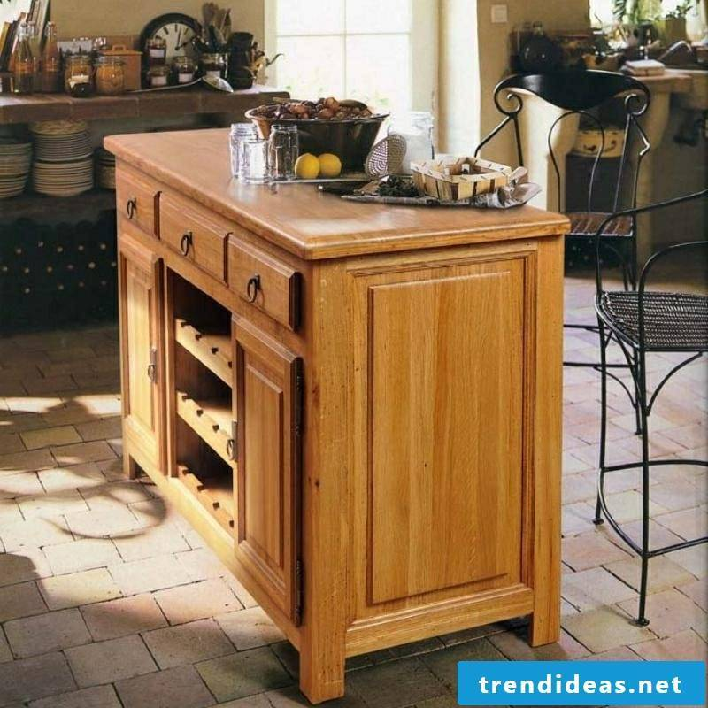 Kitchen island itself builds ideas and inspirations