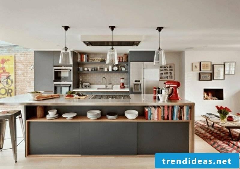 brick kitchen modern kitchen island