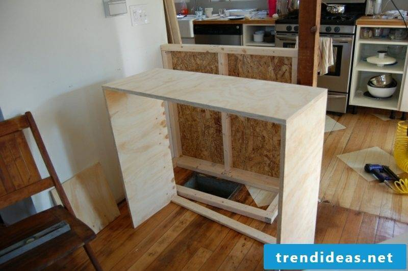 Kitchen furniture cheap counter build yourself
