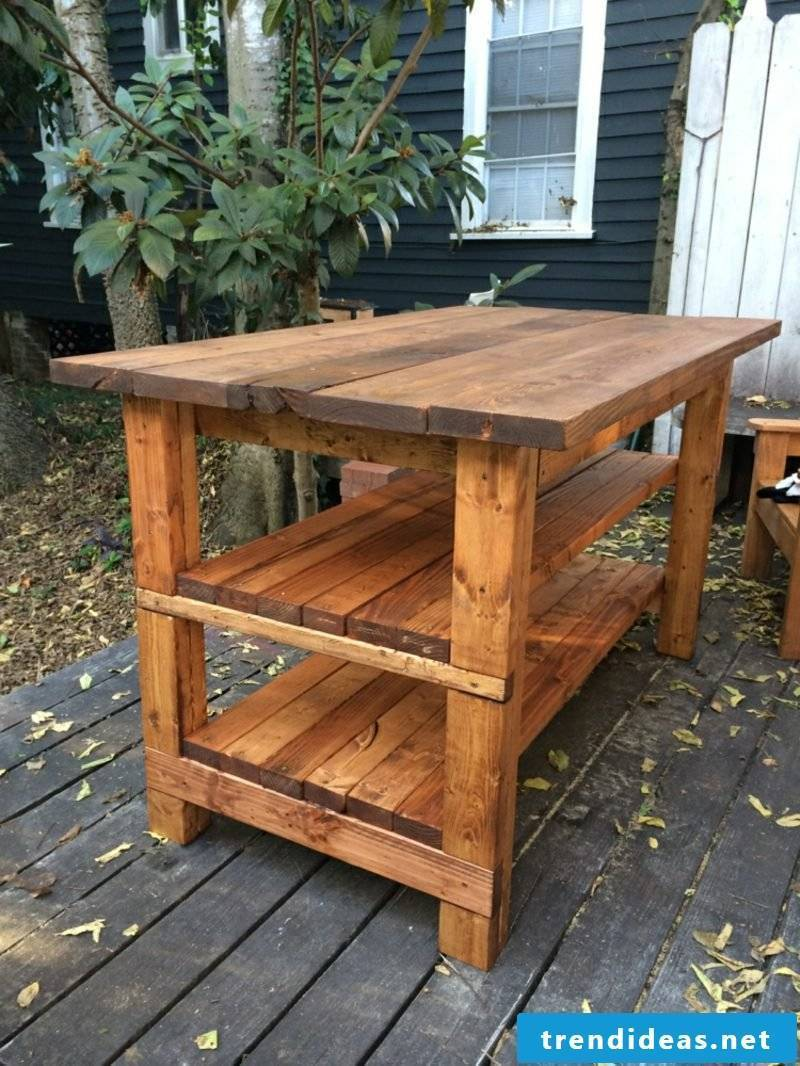 Kitchen island itself build ideas and instructions