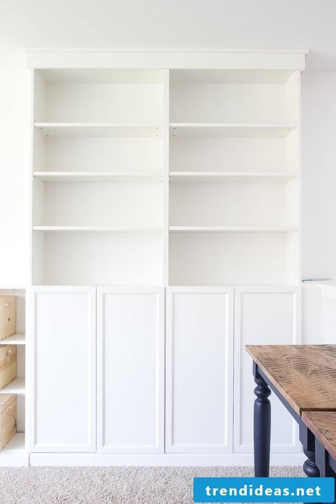 Build your own shelf with Ikea