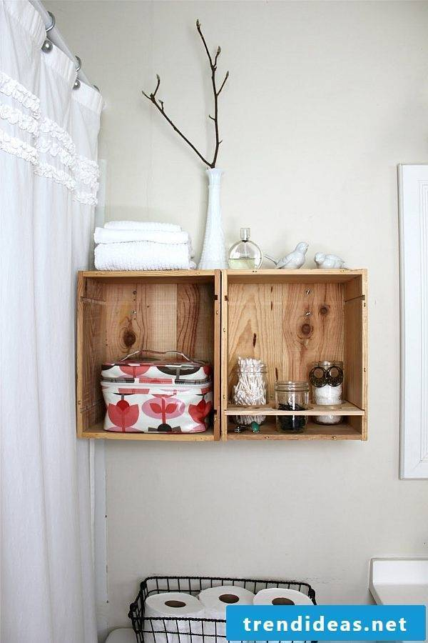 Shelf itself build bathroom