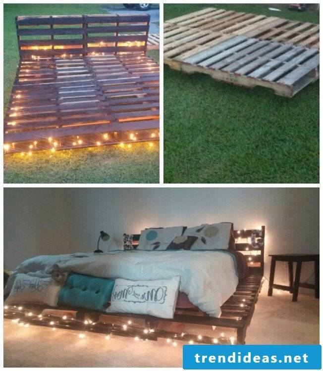 Bed of pallets in the garden - Wohlfuhloase