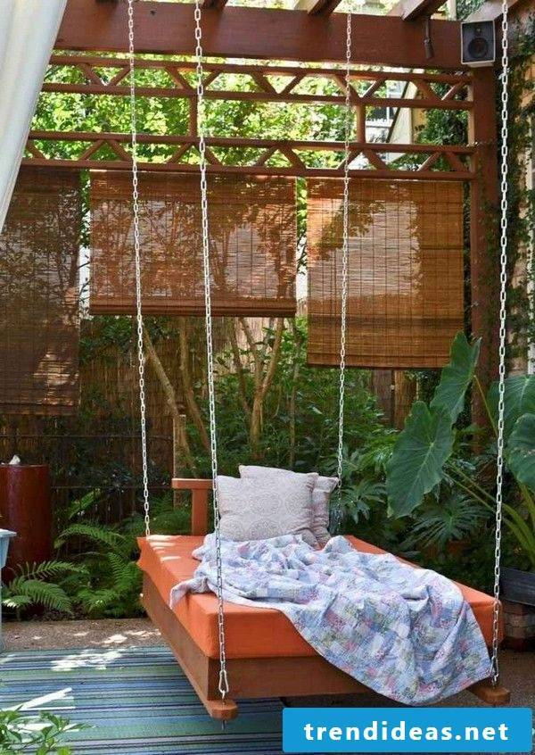 Lounger on balcony - hanging bed Instructions