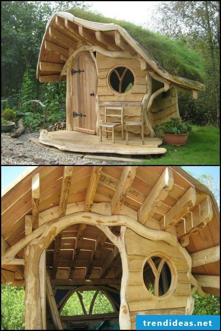 Build a playhouse garden yourself