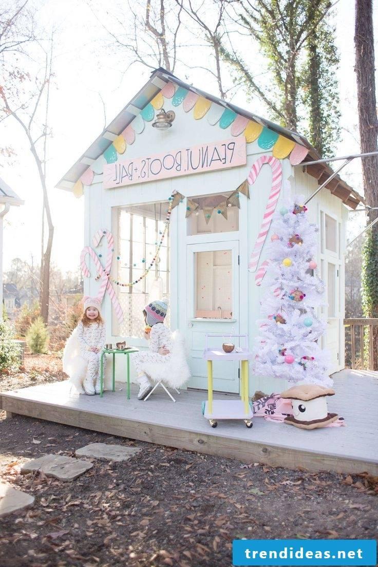 Children's play tower playhouse garden