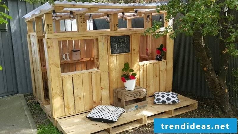 Playhouse garden for children