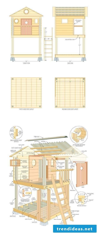 Playhouse garden scheme