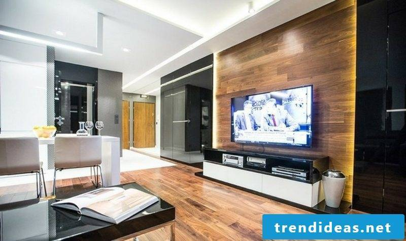 modern TV wall made of wood ideas and inspirations interior design