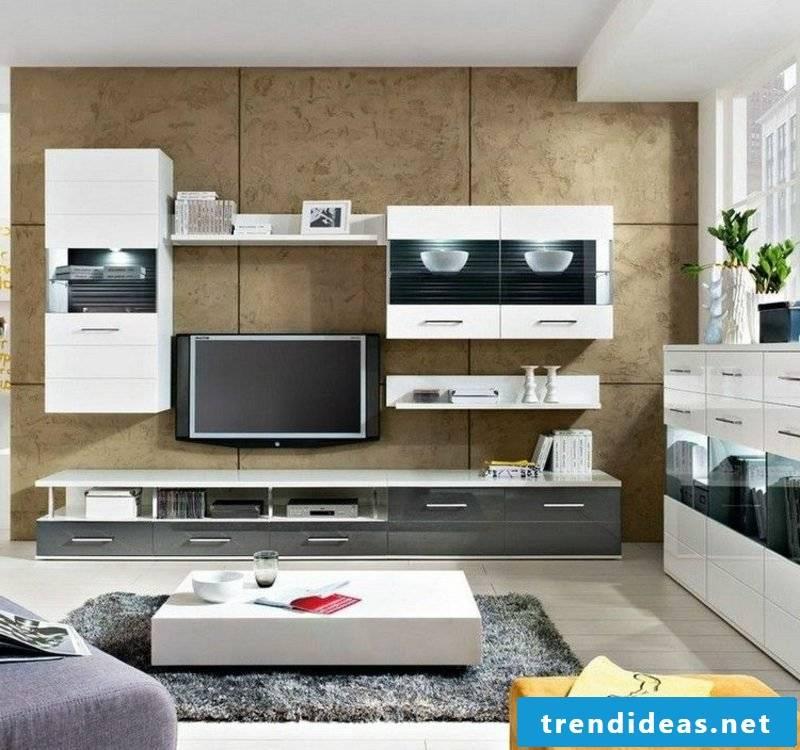 modern TV wall made of decorative wall panels
