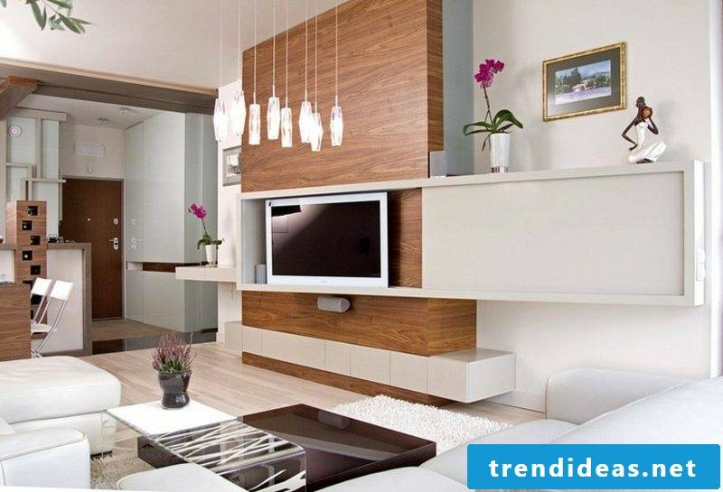 TV wall build yourself creative ideas wall panels made of wood