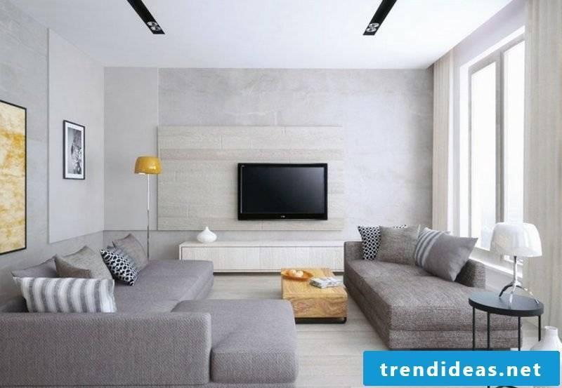 TV wall build wall panels in gray elegant look unnoticeable