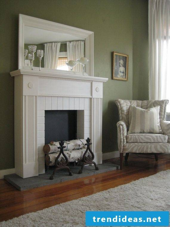 Fireplace console in modern look