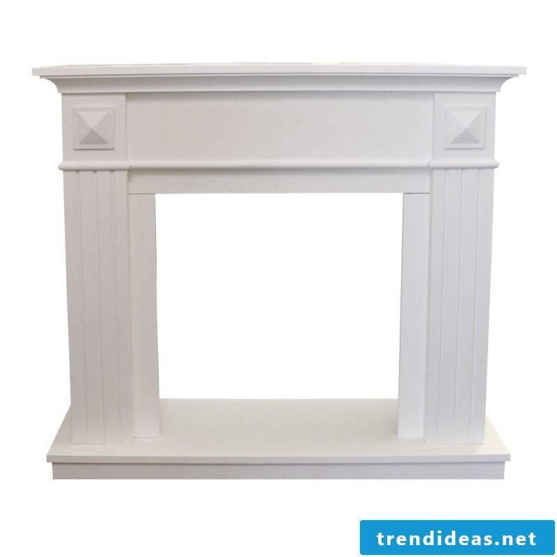 white chimney console