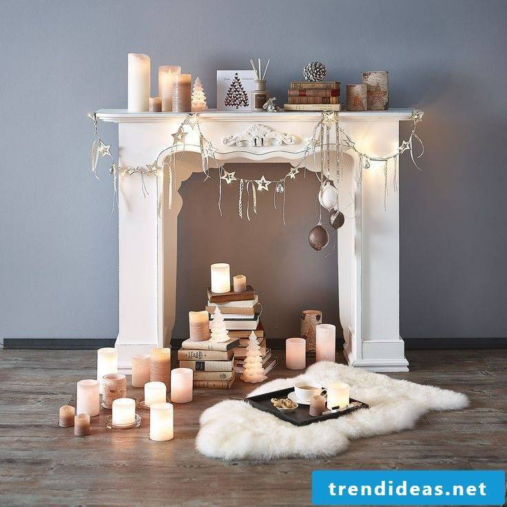 Chimney console with carpet