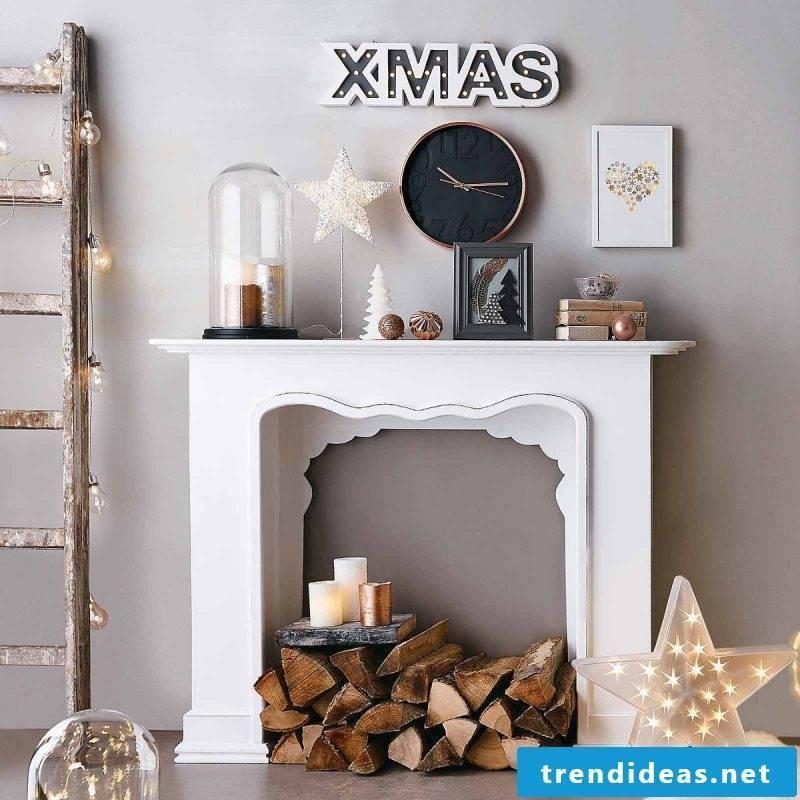 Chimney console decoration