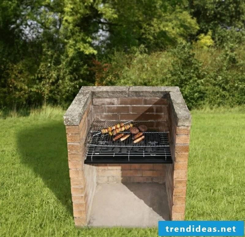 Stone barbecue itself build simple design
