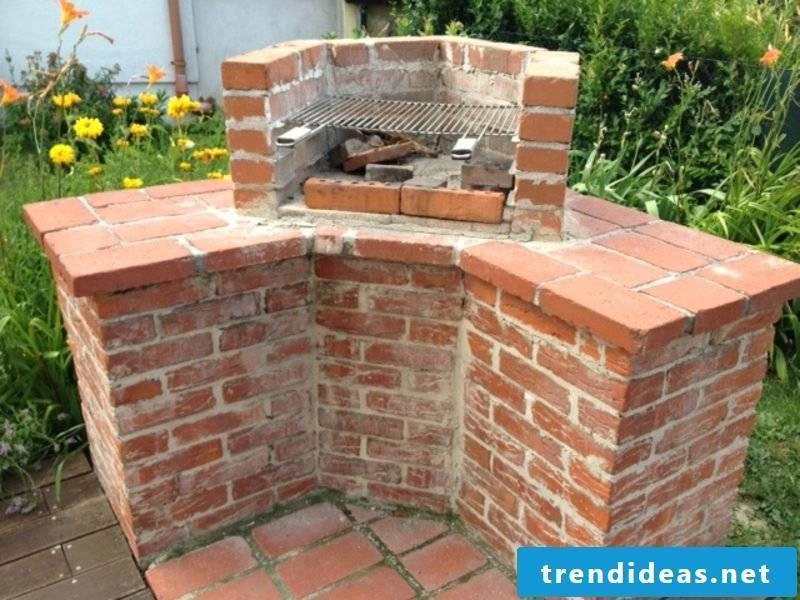 Stone barbecue itself build garden interesting design
